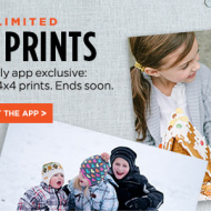 Shutterfly App: Unlimited FREE 4×6 and 4×4 Photo Prints