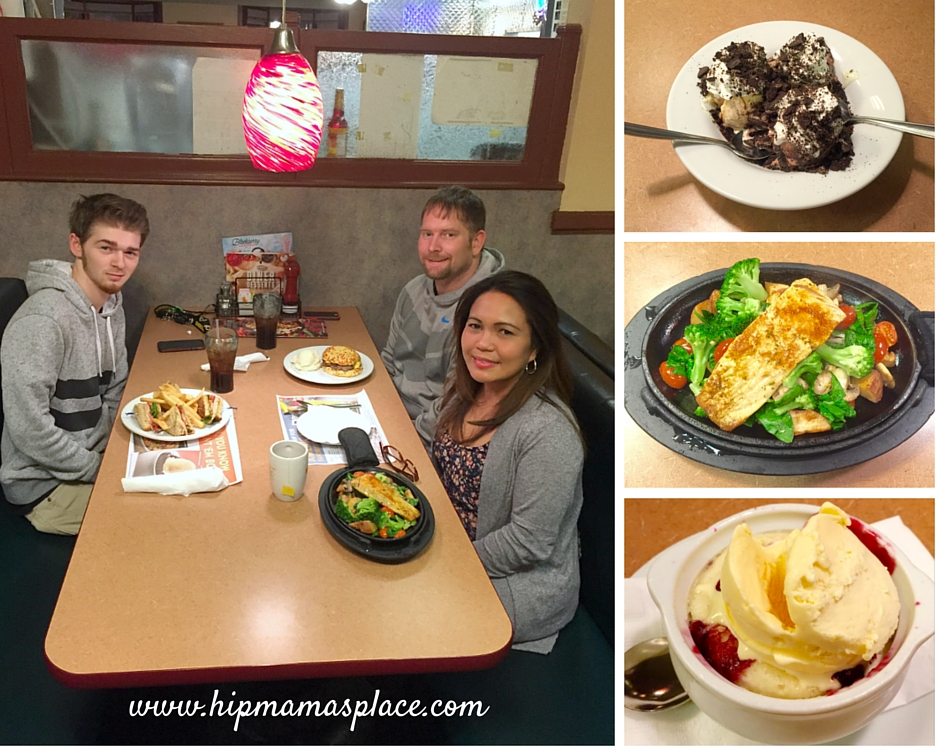 Family dining at Denny's Restaurant
