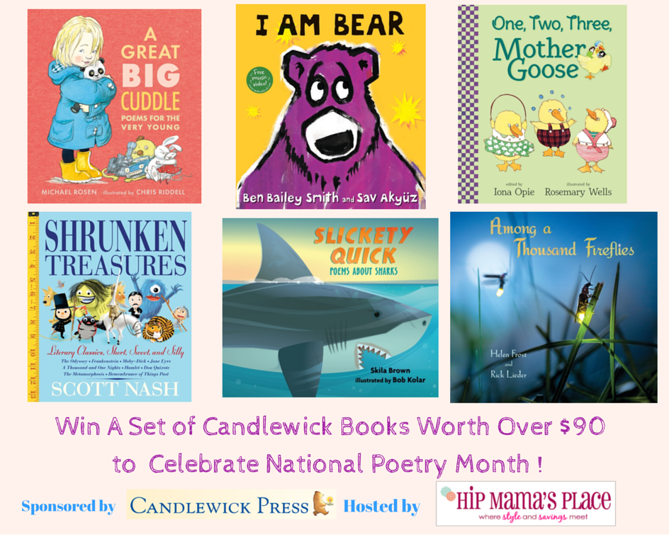 Win A Set of Candlewick Books Worth Over $90 to Celebrate National Poetry Month !