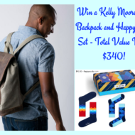Father's Day Gift Ideas: Kelly Moore Bag Pilot Backpack and Happy Socks Set (Giveaway!)