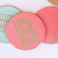 DIY Personalized Cork Coasters