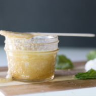 DIY Spearmint Sugar Lip Scrub