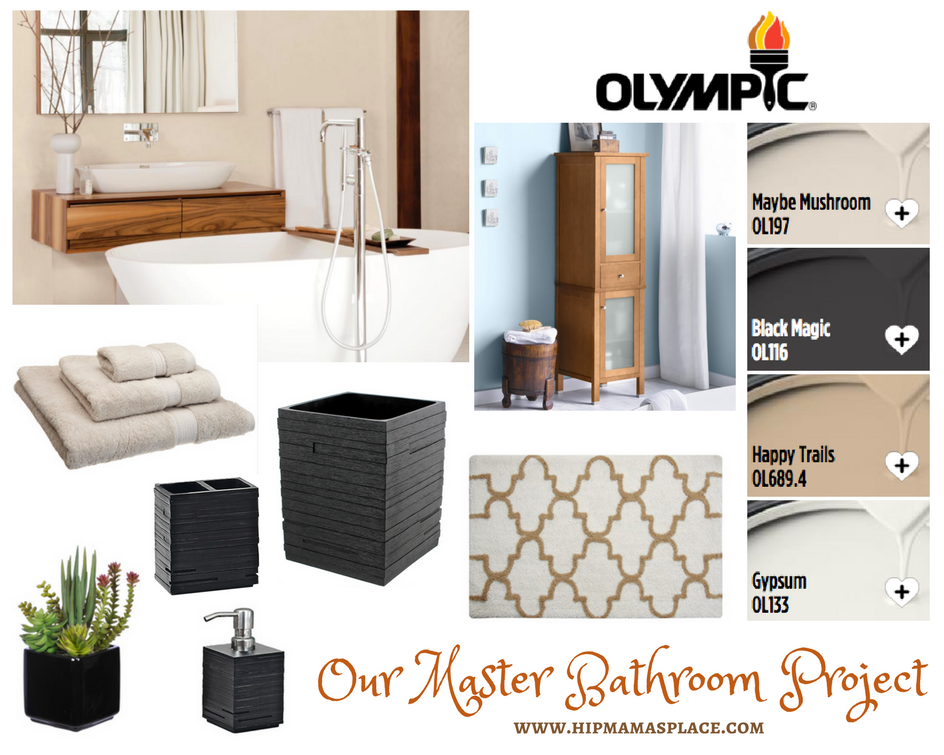 Olympic Paint Master Bathroom Project