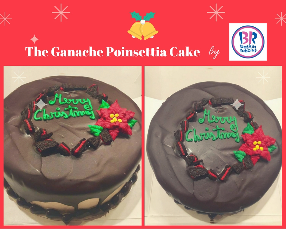Ganache Poinsettia Cake by Baskin-Robbins.. perfect dessert for your next holiday gathering!