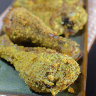 Oven Baked Crispy Curry Chicken Legs