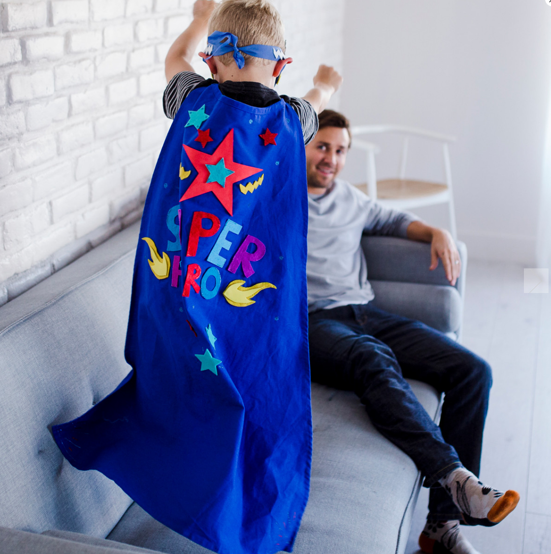 This super fun kit from Seedling.com lets your child create his own cape to be a superhero! Pretend play at its best!