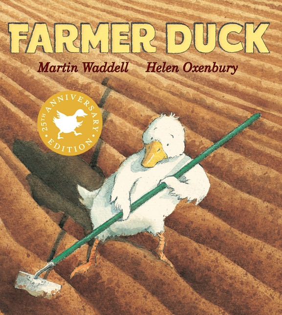 "Farmer Duck is a cute book that helps bring up a kid's version of ""teamwork"" and empathy."