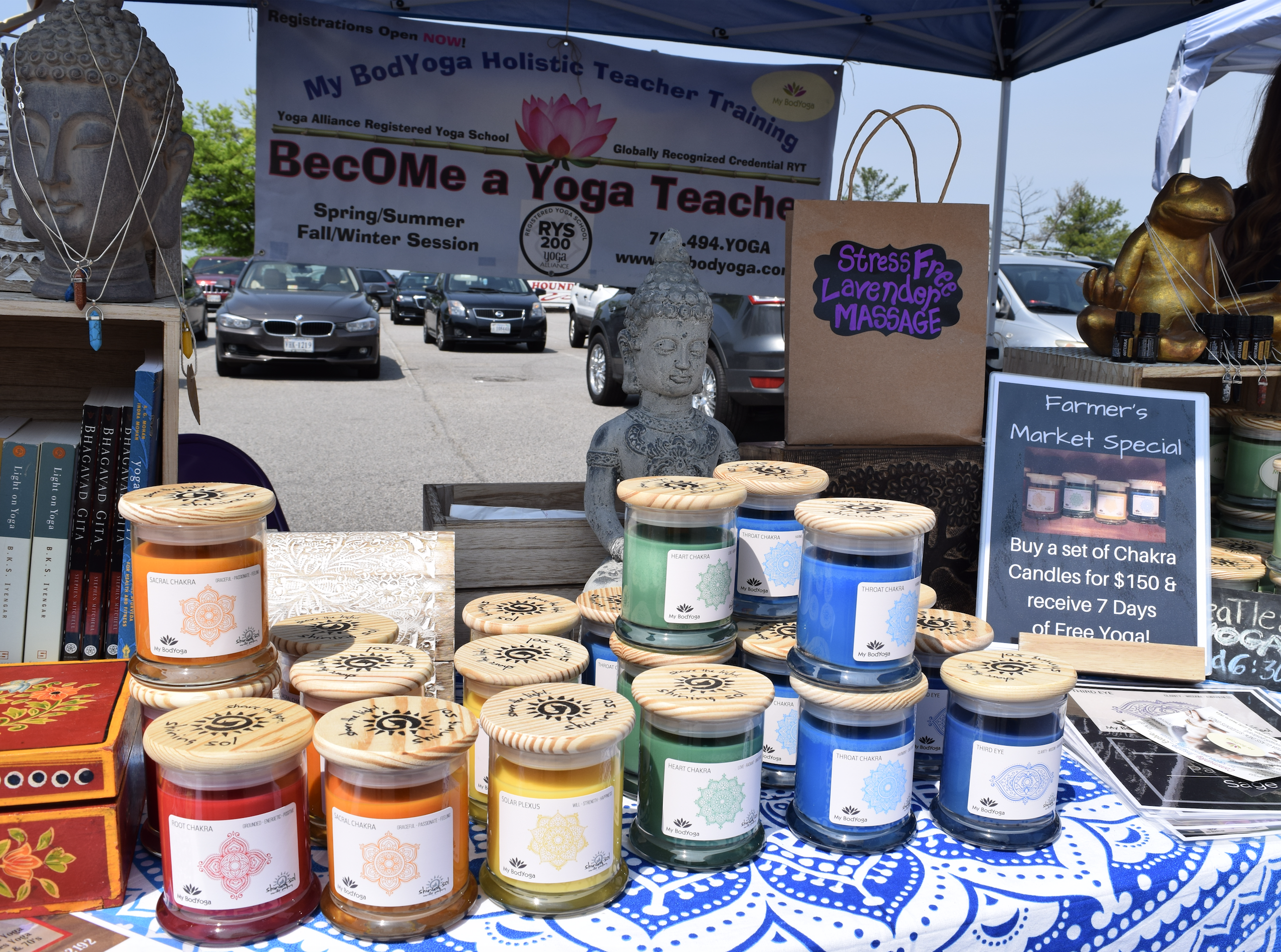 """Natural candles, essential oils and other cool stuff at """"The Market at Potomac Mills"""" in Woodbridge, Virginia, open from late April to late October, 2017."""