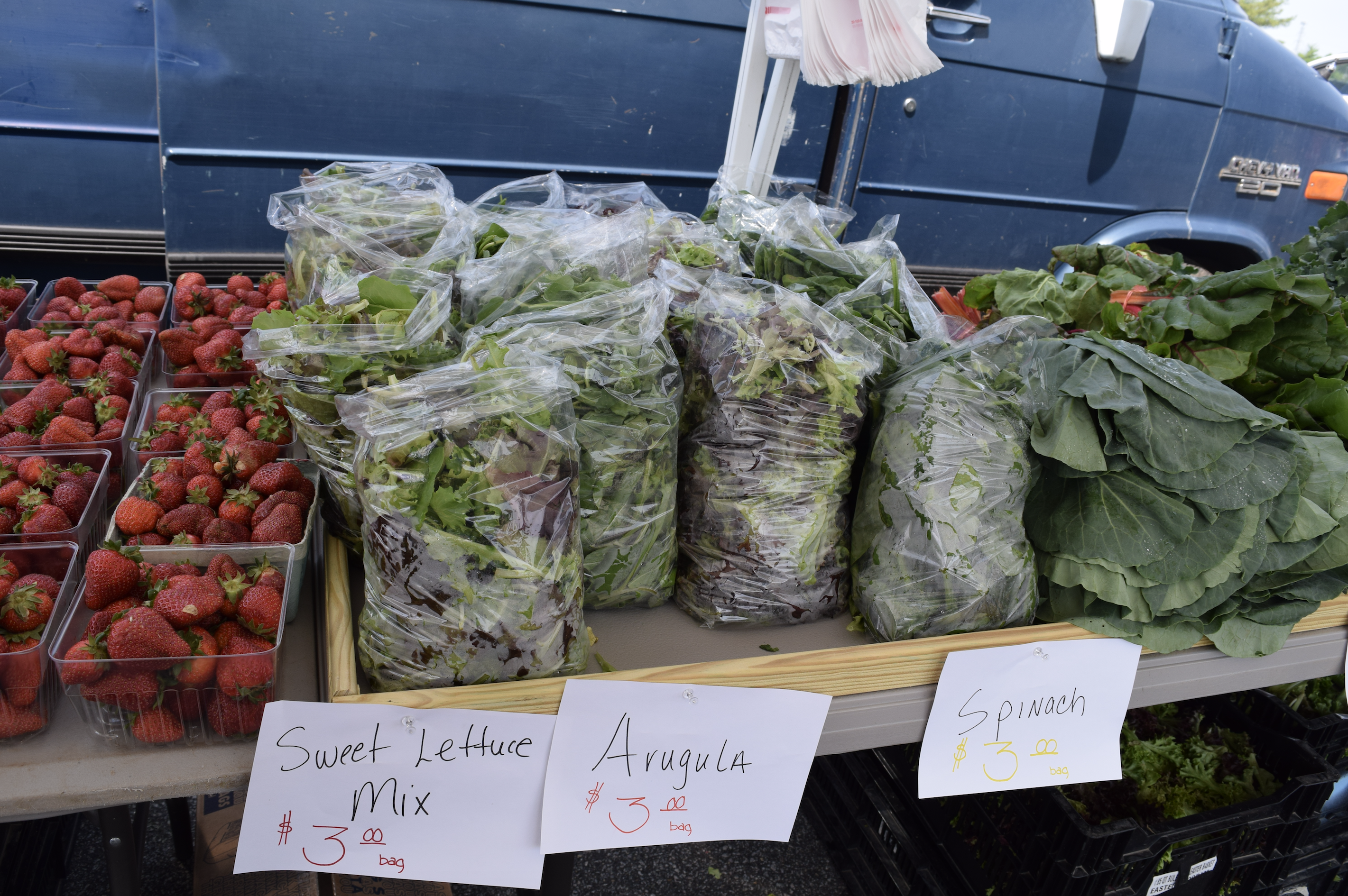 Fresh produce found at the farmers market in Woodbridge, Virginia - The Market at Potomac Mills