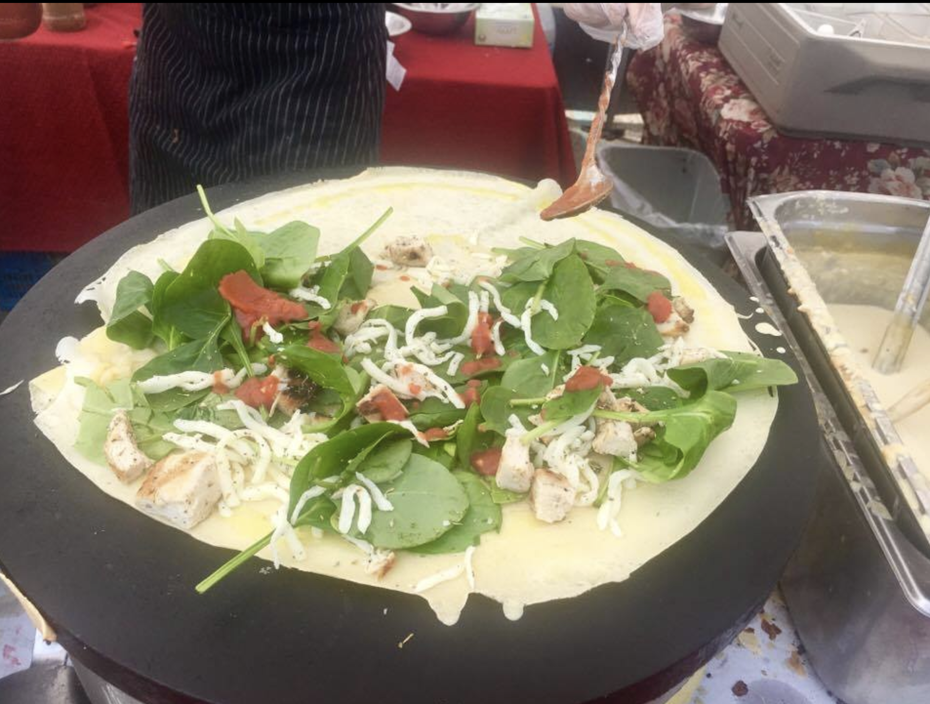 """Yummy and freshly-made healthy crepes from Rita's Crepes at """"The Market at Potomac Mills"""" in Woodbridge, Virginia"""