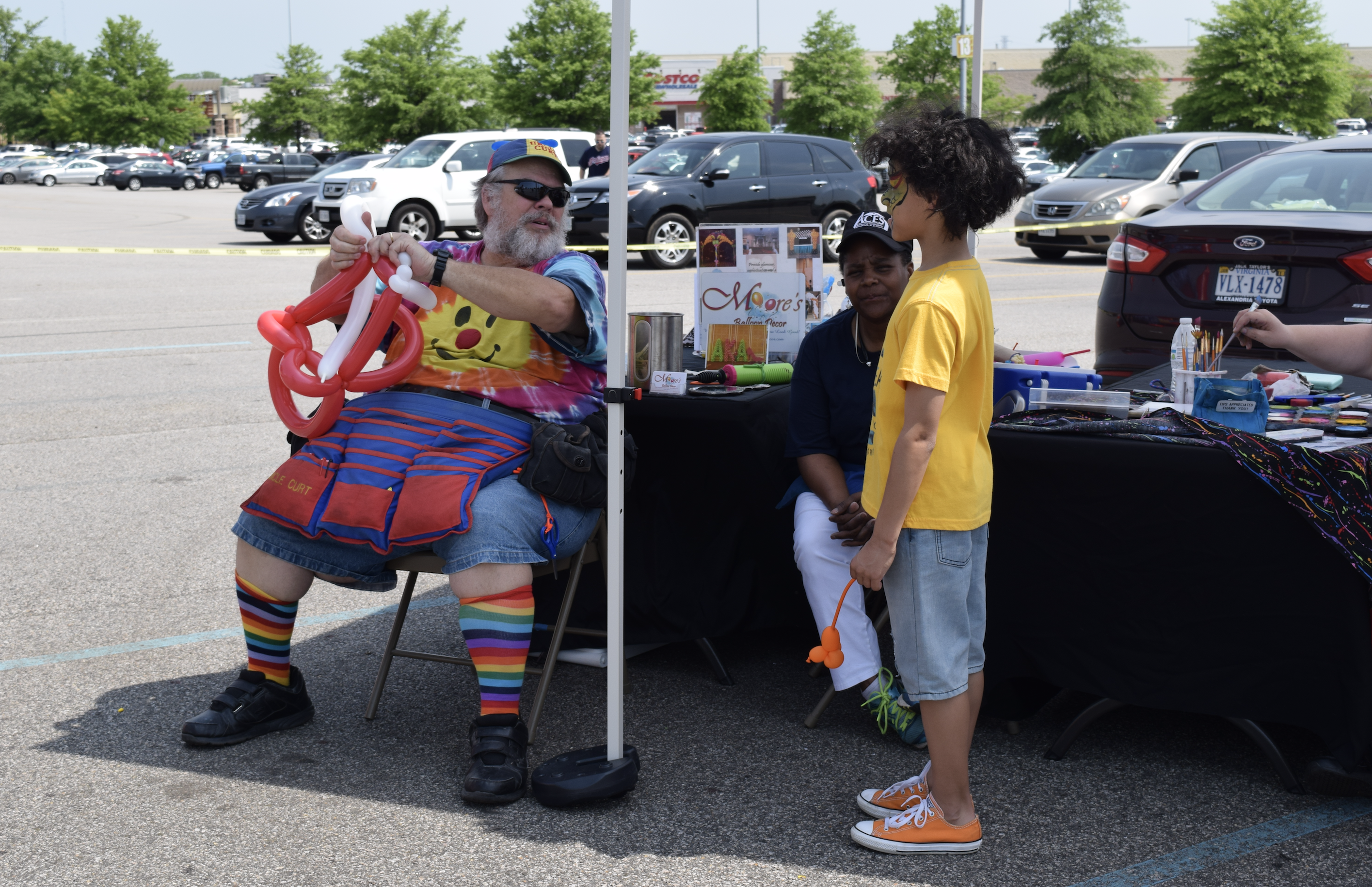 """Kids can enjoy face painting and balloon artists will entertain them too at """"The Market at Potomac Mills"""" in Woodbridge, Virginia- (held from late April to late October 2017)"""