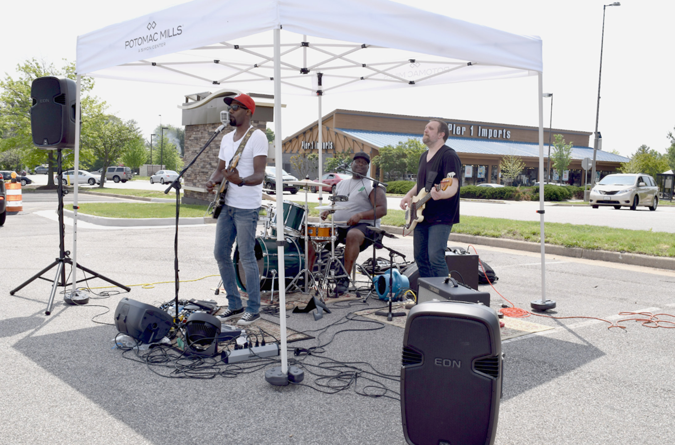 """A band played at the opening day of """"The Market at Potomac Mills"""" hosted by Potomac Mils mall in Woodbridge, Virginia last April 29, 2017"""