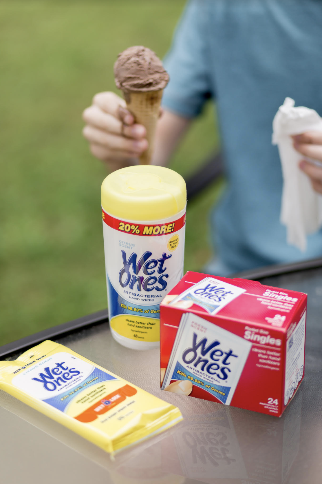 The best part of summer is spending all of this quality time as a family, and knowing that my kids are clean and germ free with Wet Ones Hand Wipes just within reach as we go on all of our adventures!
