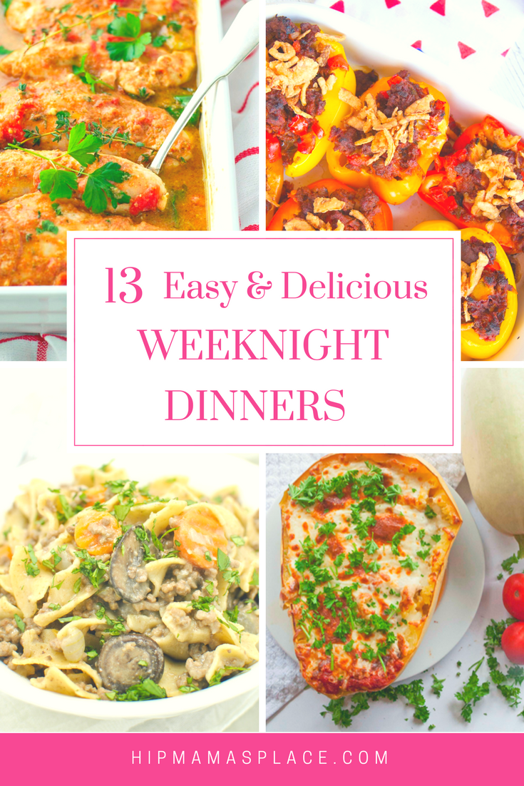 I am all about simplifying things.. like making dinner! Here are 13 easy and delicious dinner ideas you'll love!