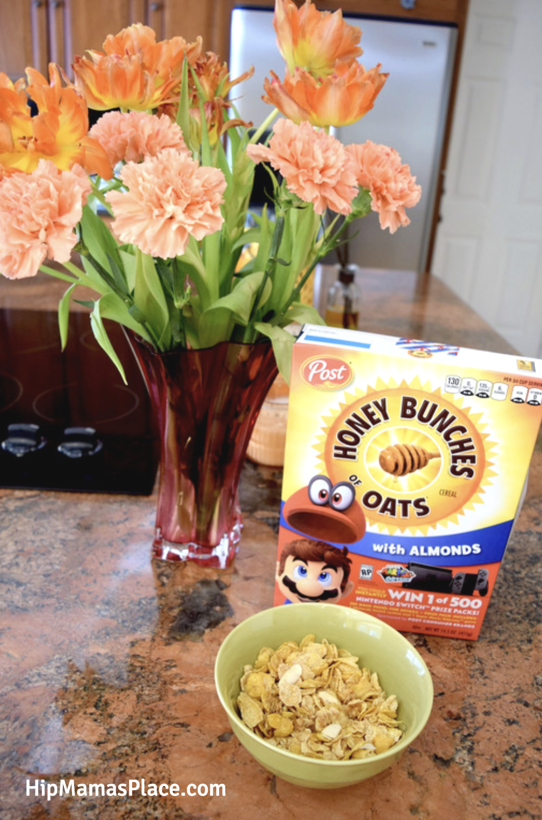 My whole family loves Honey Bunches of Oats® with Almonds cereal for breakfast!