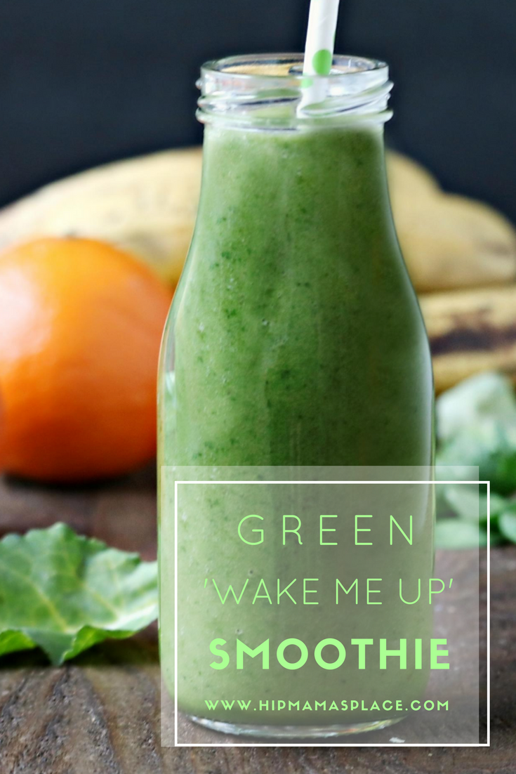 """Satrt your day right with a healthy dose of my homemade Green """"Wake Me Up"""" smoothie!"""