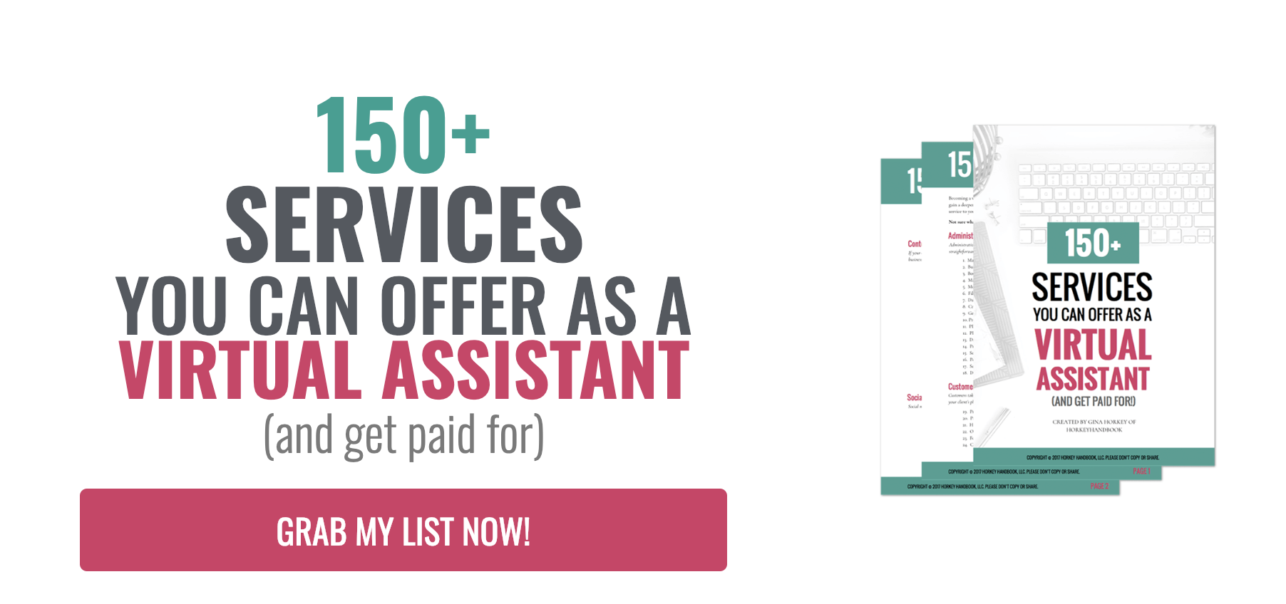 List of 150+ Services You Can offer as a virtual assistant - and get paid for!