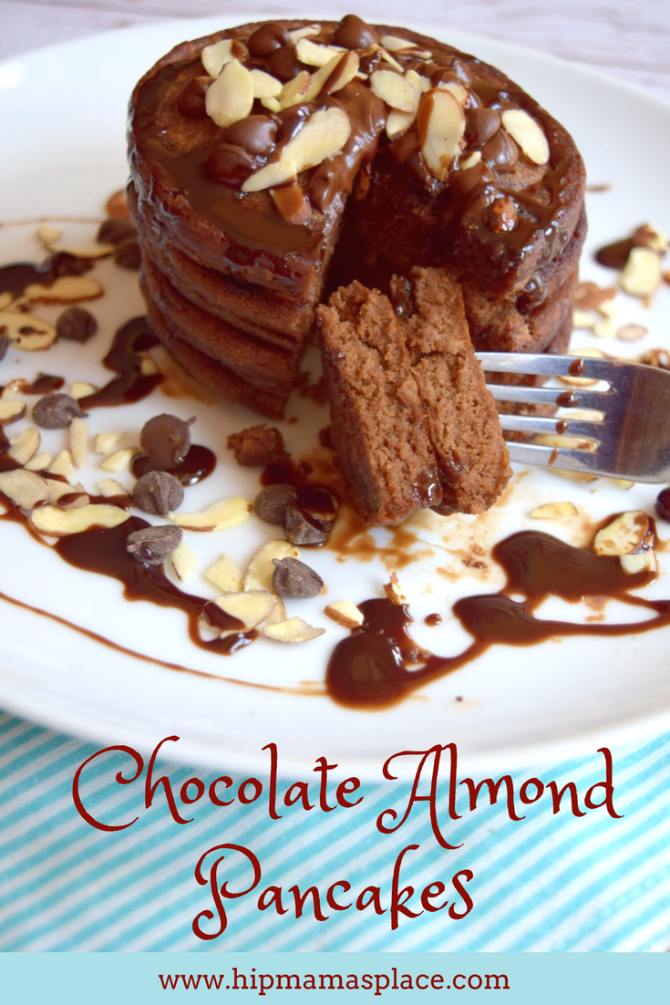 Chocolate Almond Pancakes made with International Delight® Almond Joy™ creamer
