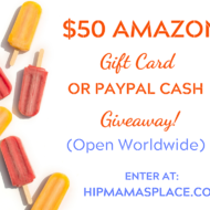 $50 Amazon Gift Card  or Paypal Cash Giveaway + Summer Giveaway Hop!
