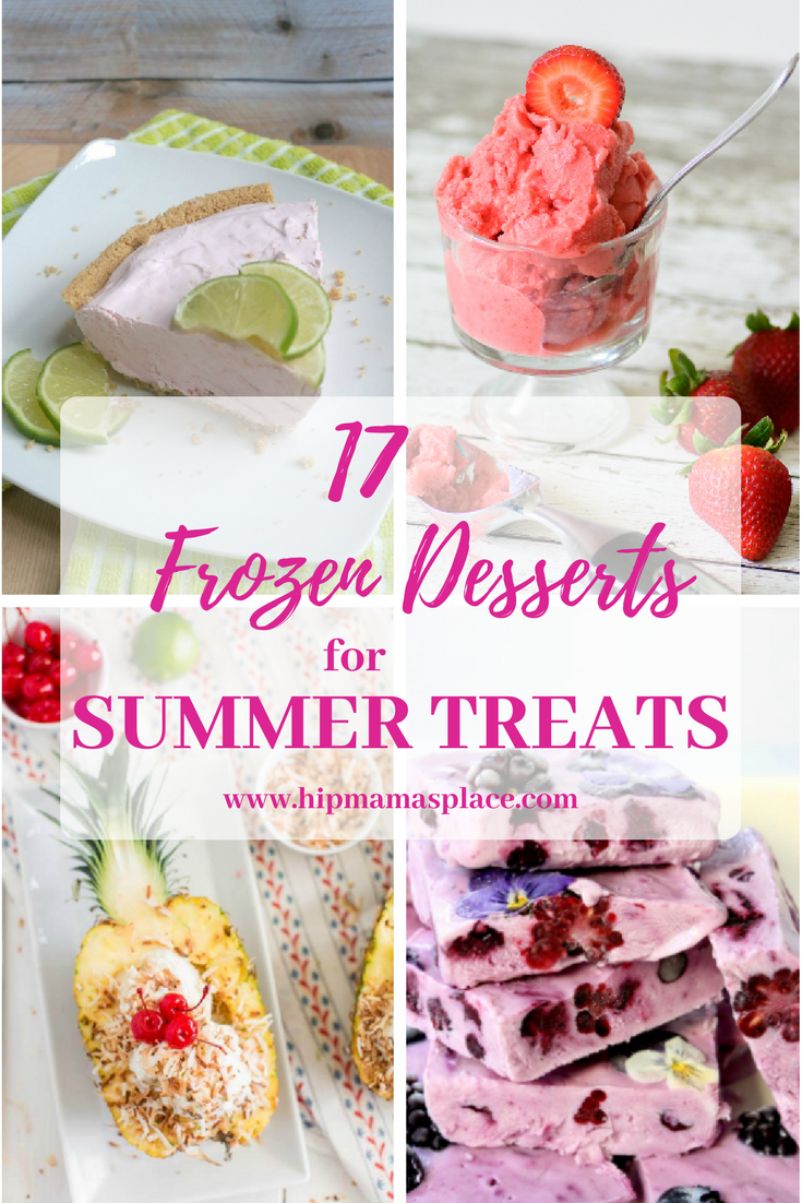 Summer is almost here and I've put together this yummy roundup of 17 Frozen Desserts for Summer Treats you and your whole family will enjoy!