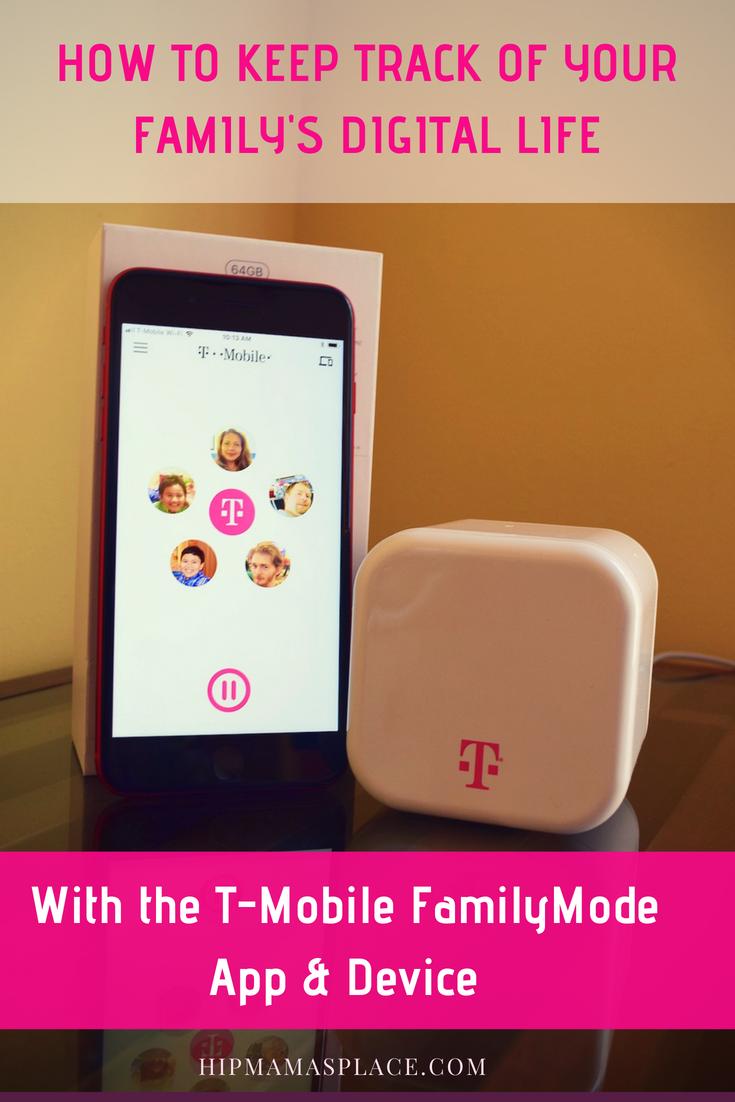 How to keep track of your family's digital life with T-Mobile FamilyMode app and device. Get all the details at HipMamasPlace.com!