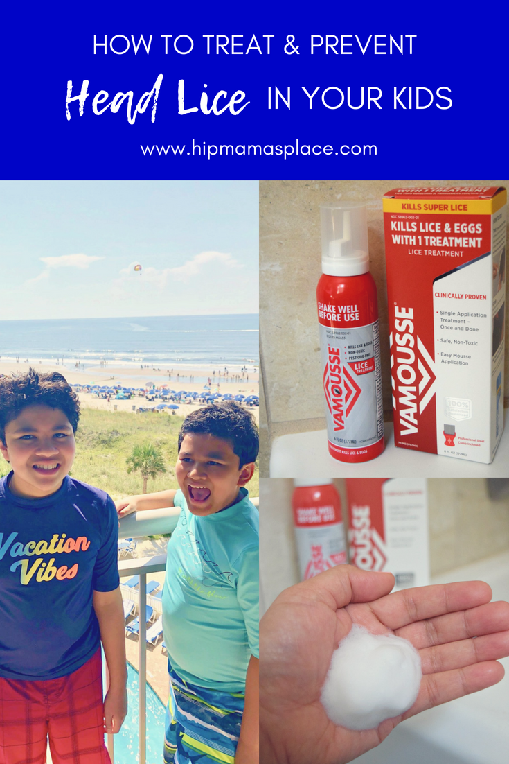 How to treat and prevent lice in your kids. Read the full article on HipMamasPlace.com #VamousseLice #AD #sponsored