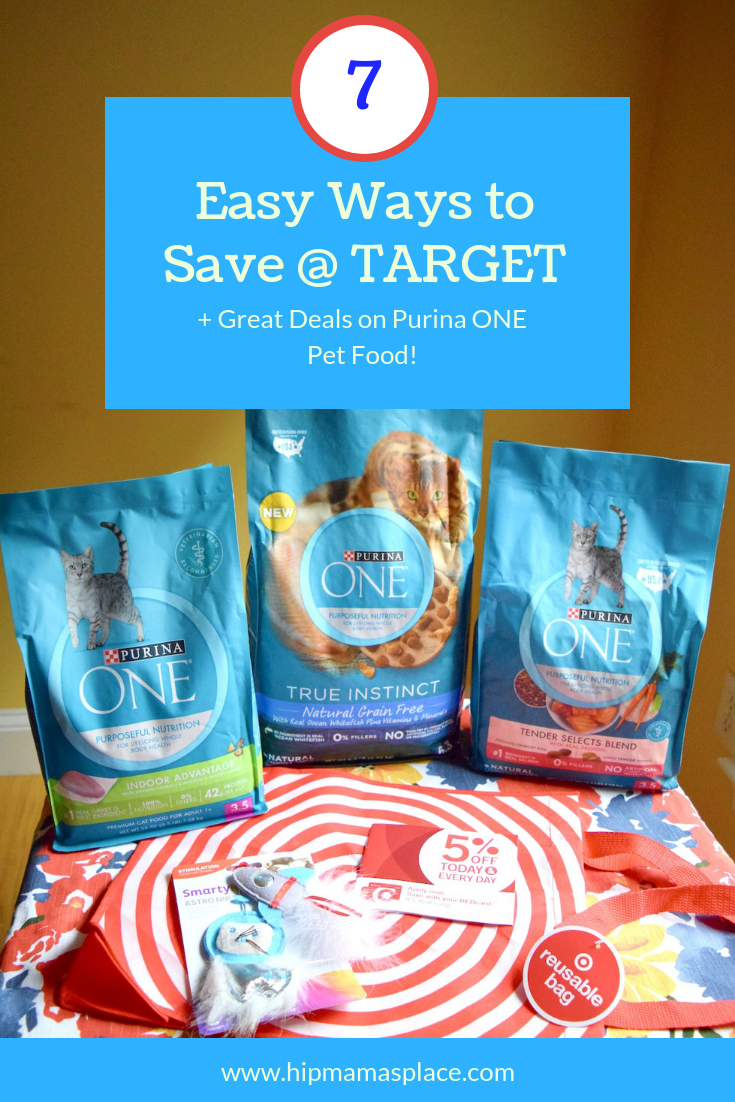 Love shopping at Target? Here are 7 Easy Ways to Save at Target + find some great deals on Purina ONE pet food all through September! #PurinaONEPets