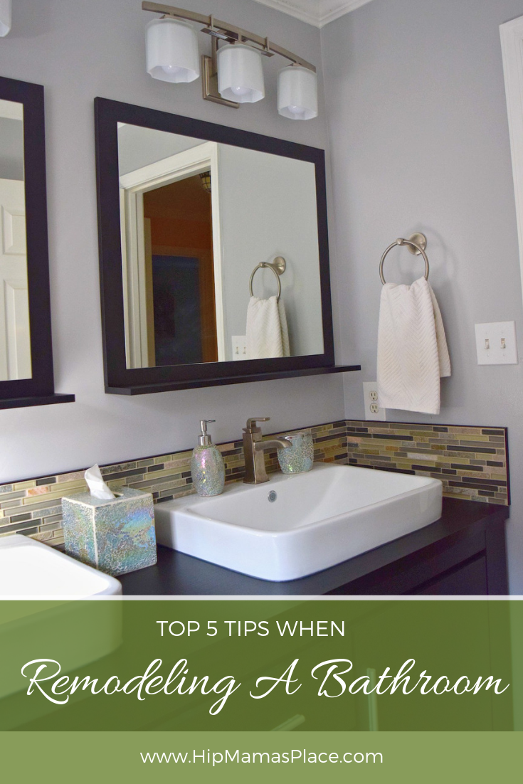Planning a bathroom remodel anytime soon? Here are 5 top tips when remodeling a bathroom + find out how Sears Home Services can help! #AD #HouseExperts #SearsBathroomRemodel