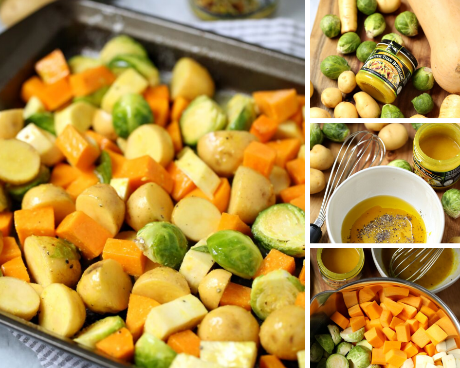 This Sheet Pan Roasted Vegetables recipe is the perfect side dish that's great any time of the year but especially in the cooler Fall and winter seasons! Get the full recipe @ www.hipmamasplace.com #ad #BetterThan #IC