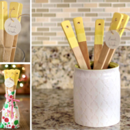 DIY Painted Kitchen Utensils