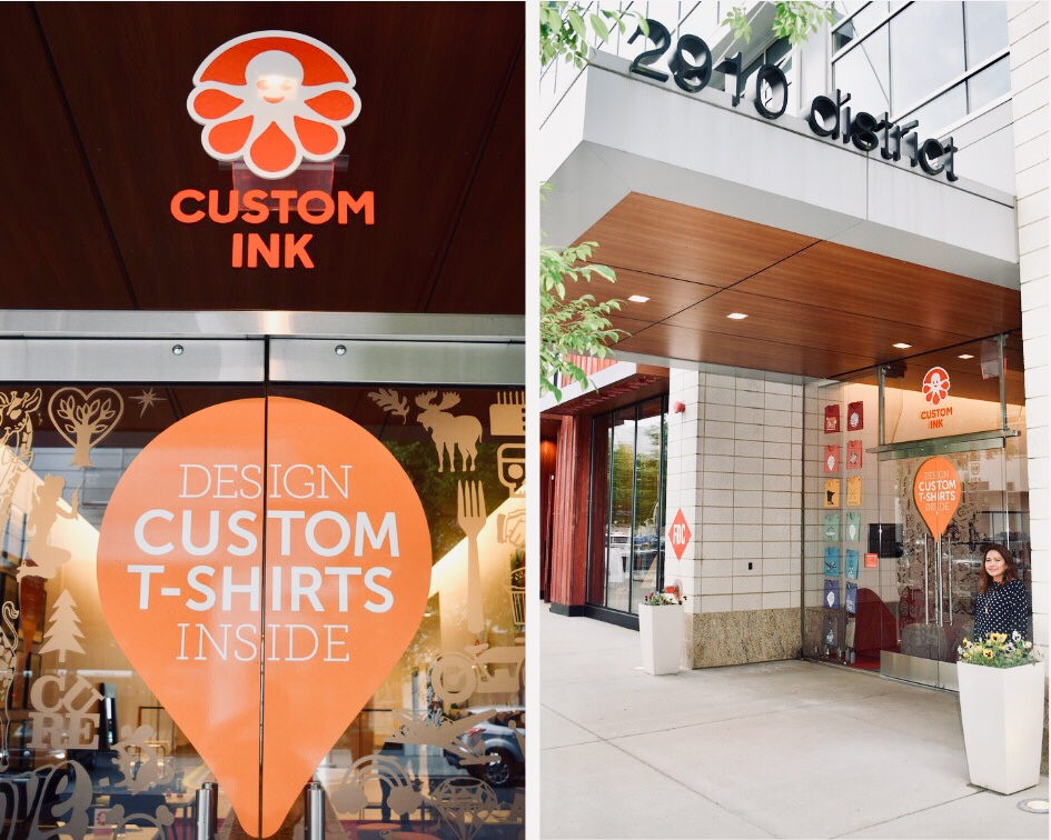 Custom Ink store at the Mosaic District in Fairfax, Virginia
