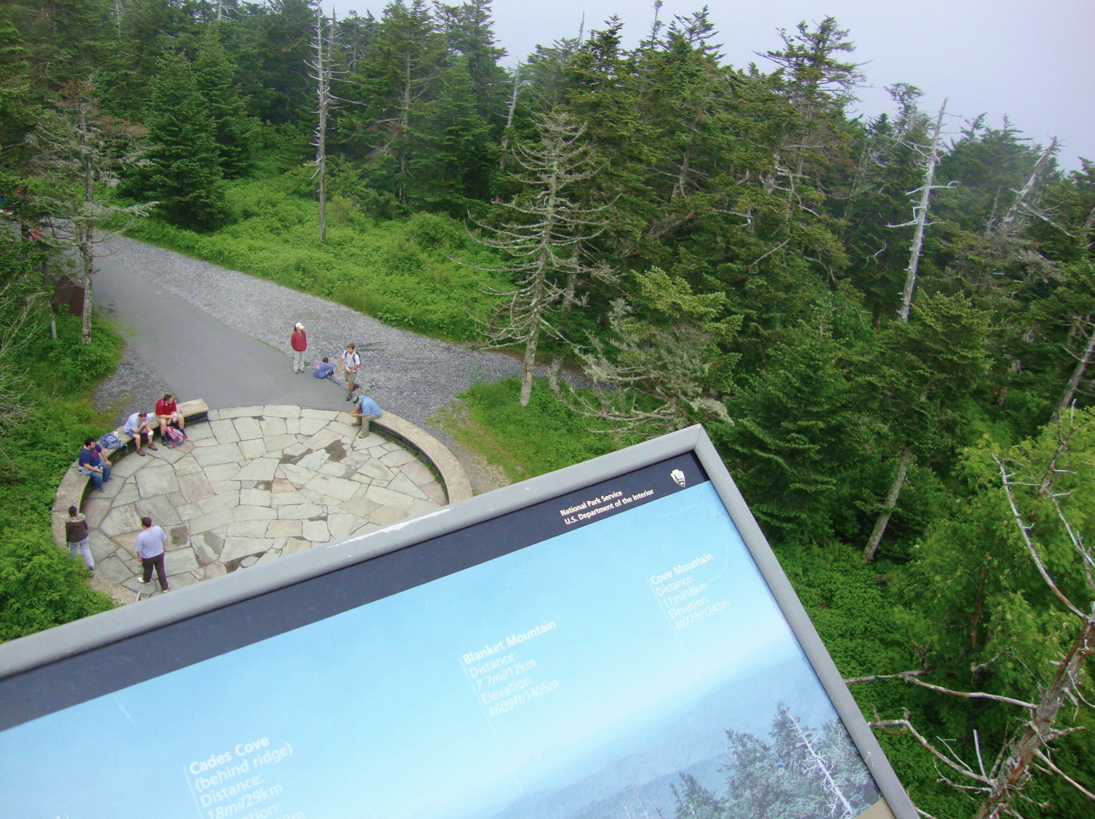View from the top of The Clingmans Dome- Pigeon Forge, TN