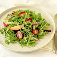 Peach Arugula Salad + Summer Fruit Fest Event at Wegmans