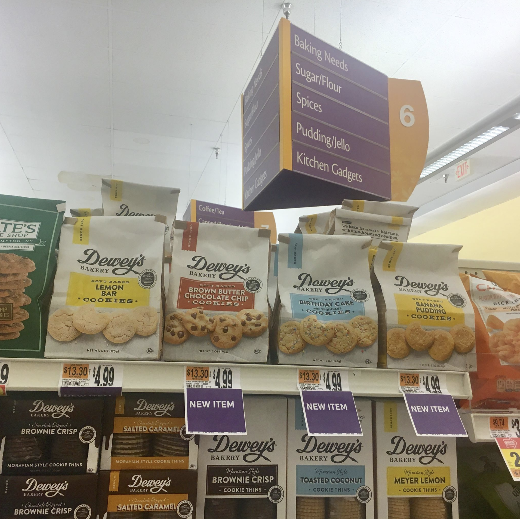 Dewey's Bakery Soft Baked Cookies available at Walmart, Wegmans and Giant retailers