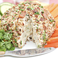 Bacon Ranch Cheeseball Recipe + Quick Tips for Hosting a Game Day Party