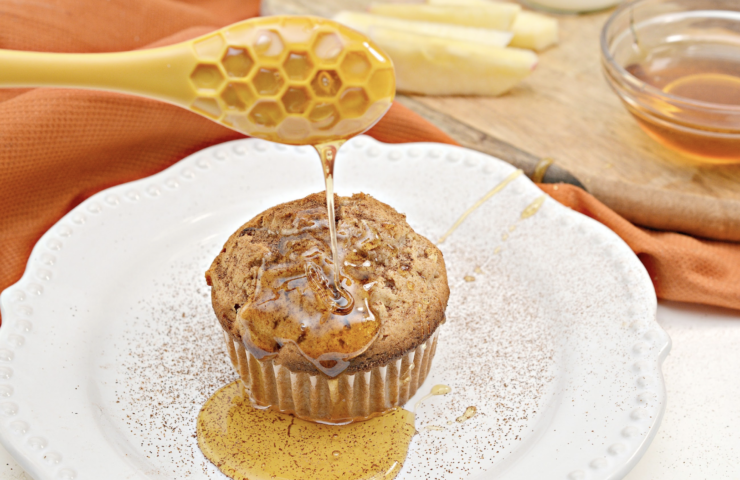 Honey Apple Muffins for National Honey Month!