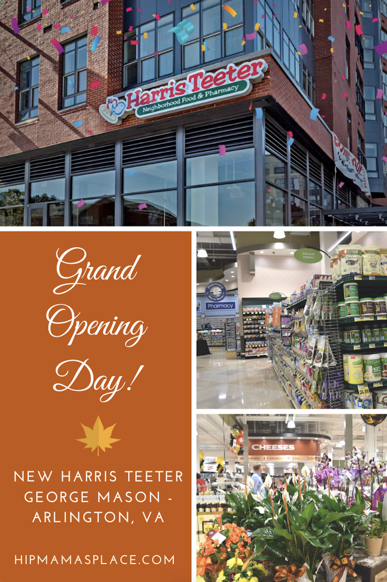 Check out the brand new Harris Teeter George Mason store in Arlington, VA!  #AD Full story and photos from the grand opening day event @ https://bit.ly/2Ptbpd8  #myHarrisTeeter #tasteofteeter