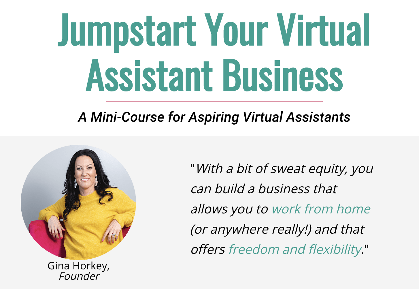 Virtual Assistant Virtual Mini Course