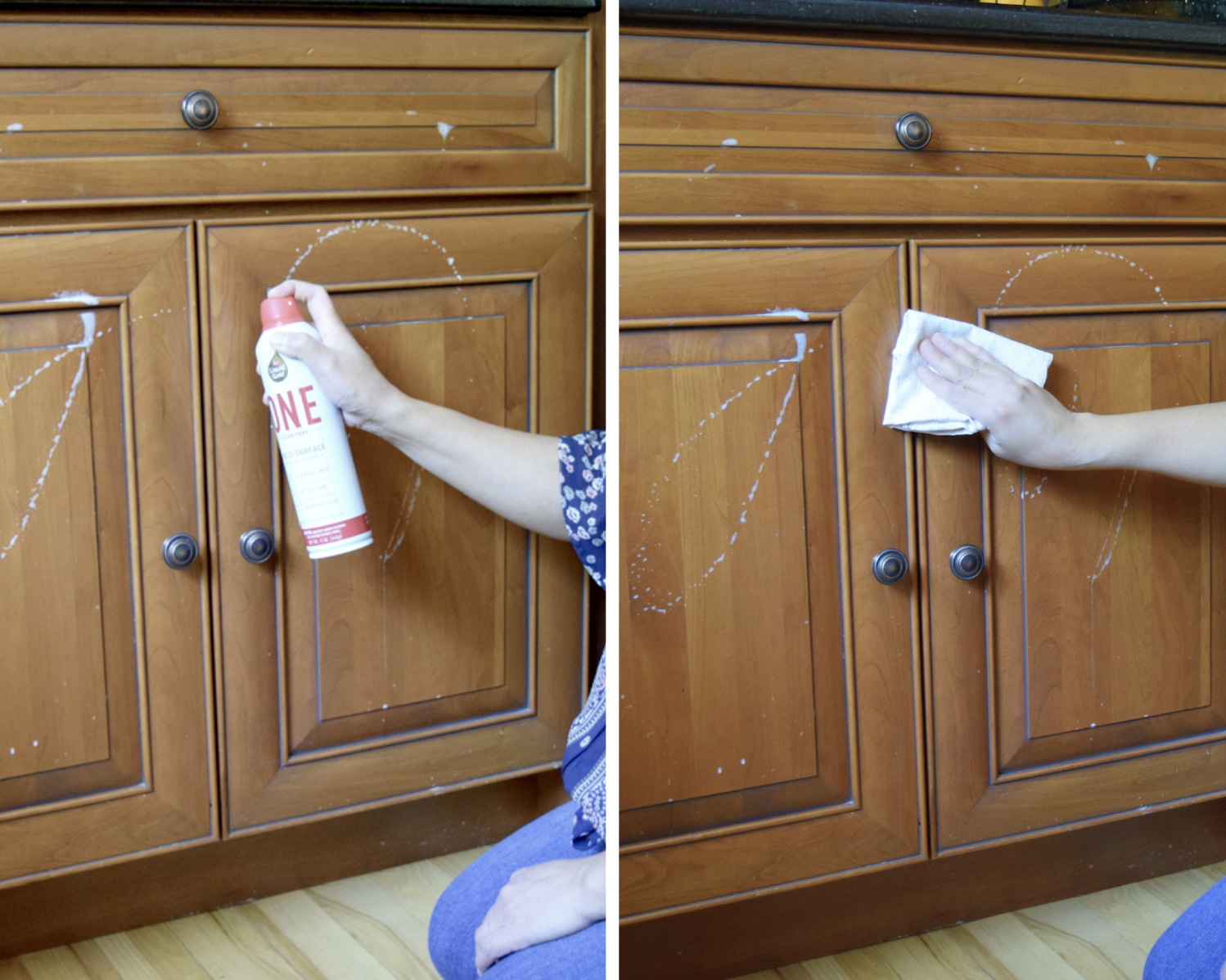 spring cleaning with Scott's Liquid Gold cleaner