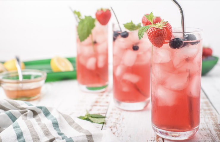 Ginger Mint Berry Iced Tea