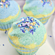 Mermaid Cupcake Bath Bombs DIY