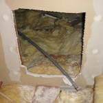 Hole in attic firewall