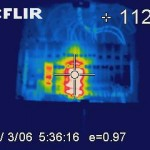 Thermal image of over-heated breaker