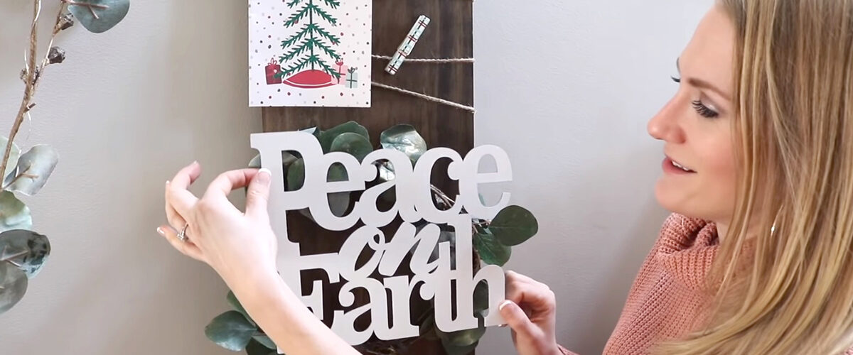 DOLLAR STORE IDEAS | Organize & display ALL those Christmas Cards!