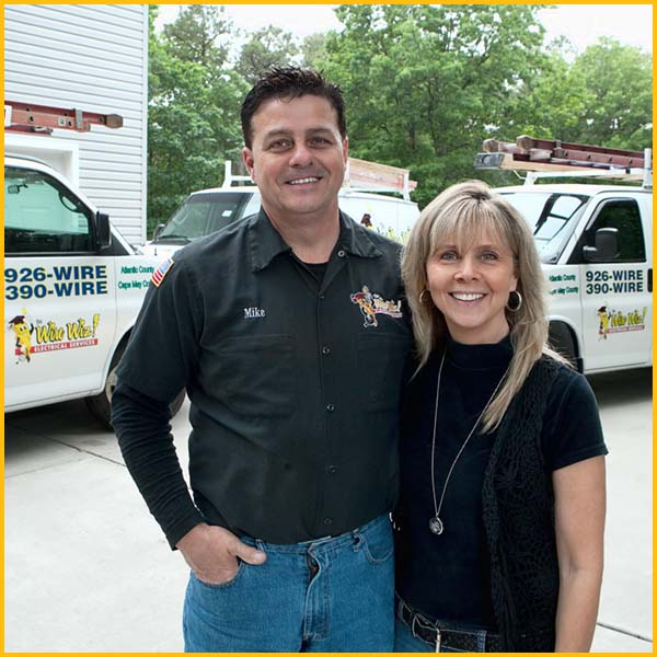 Wire Wiz Electrician Services   Michael and Virginia Darragh   Owners