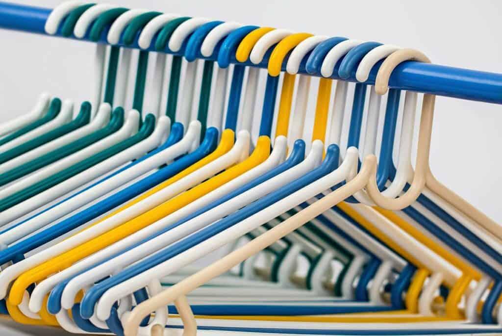 Coat hangers in closet
