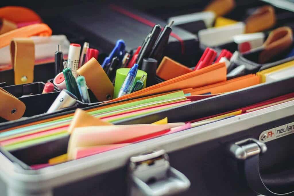 Organized office drawer