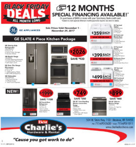 Black Friday Appliance Deals Charlie S Hardware