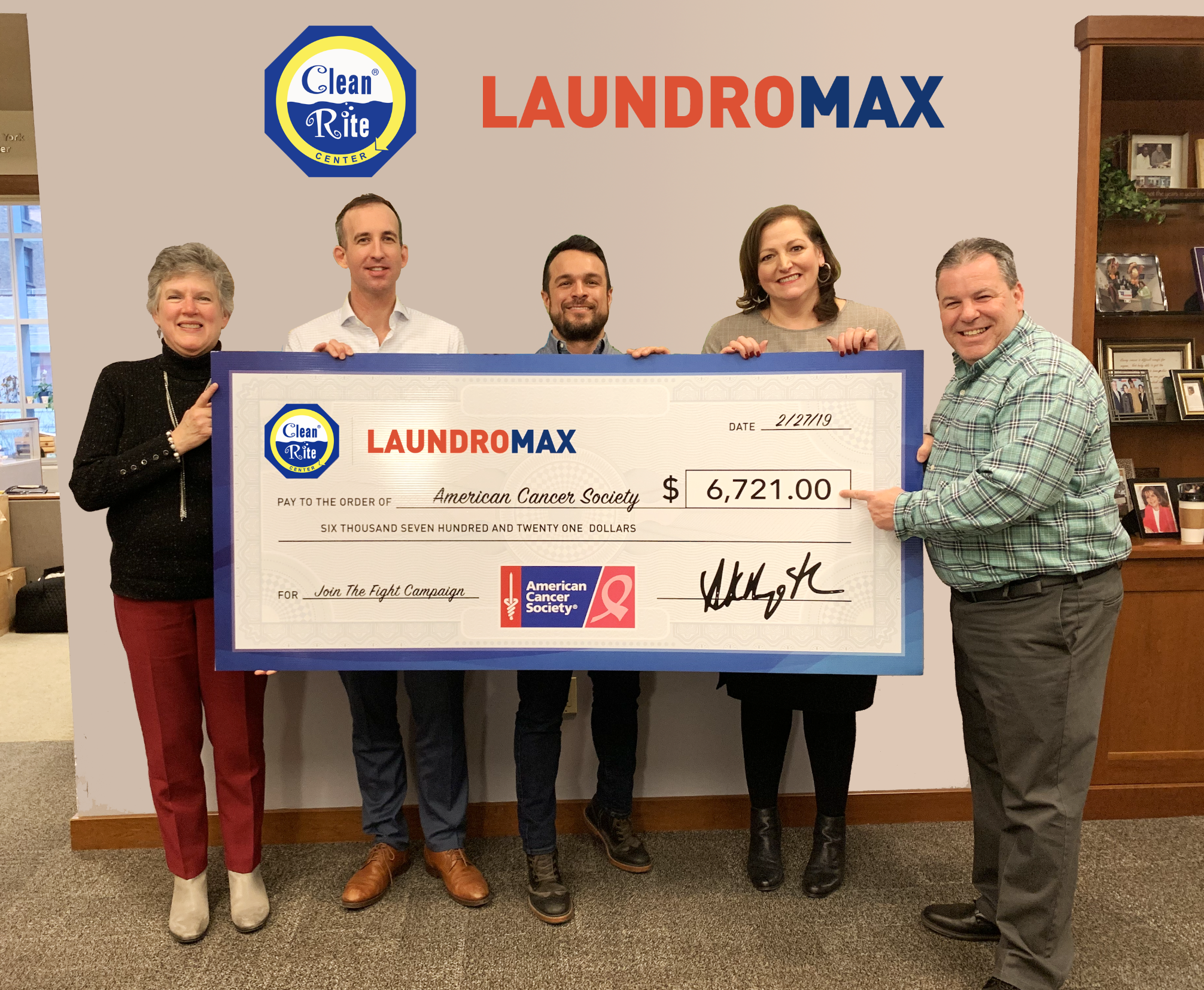 Laundromax And The American Cancer Society 2018