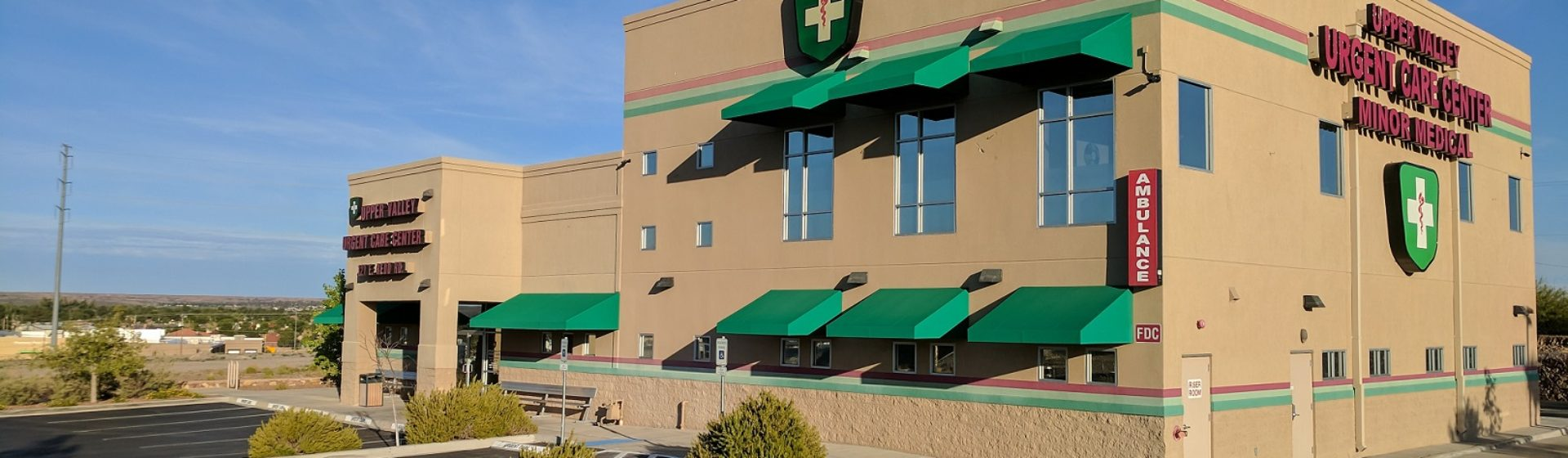 UPPER VALLEY URGENT CARE – Open Daily 8am until 9pm, and